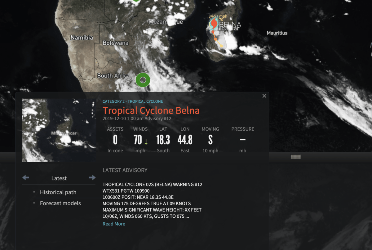 Weather Critical Events in SONAR