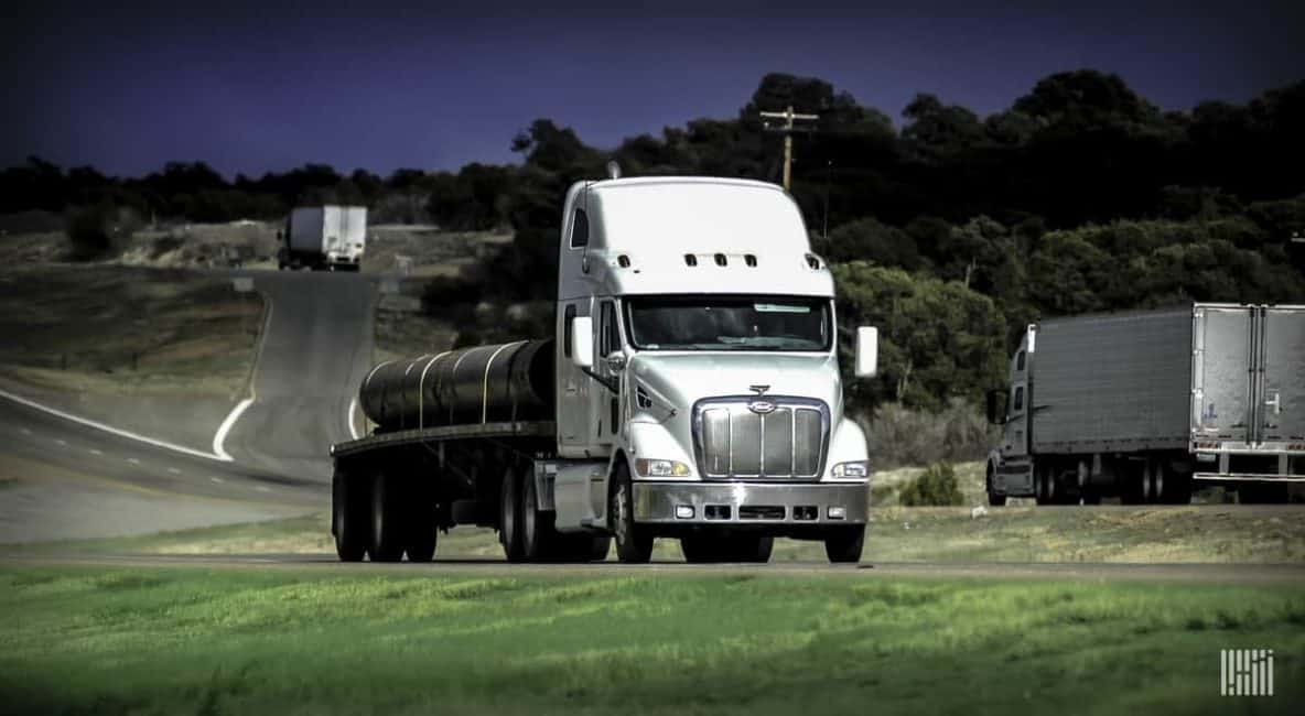 18 Wheeler carrying load
