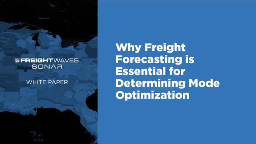 freight forecasting sonar white paper