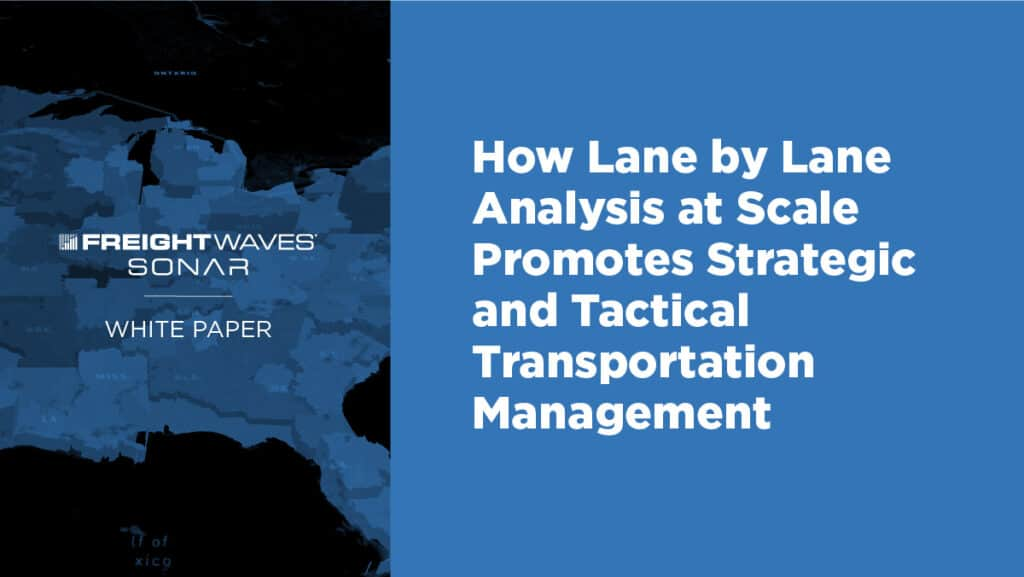 lane by lane analysis to improve transportation management